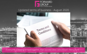 Terms of Business Update – August 2020